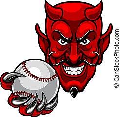 スポーツ, 悪魔, 野球, マスコット