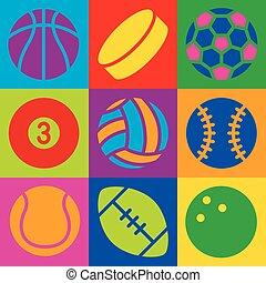 スポーツ, 芸術, ポンとはじけなさい, ボール
