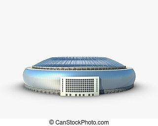 スポーツ, arena., 競技場, イラスト, 3d