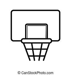 スポーツ, basketboll, ベクトル, イラスト, アイコン
