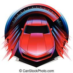 スポーツ, drivin, 自動車, デザイン, 概念