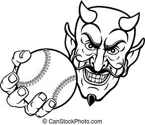 スポーツ, satan, 悪魔, ボール, 野球, マスコット, 漫画