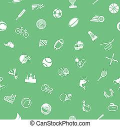 スポーツ, seamless, 背景, 手ざわり