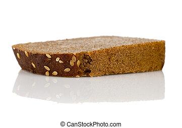 スライス, 隔離された, bread