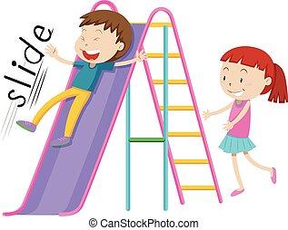 スライド, 子供たちが遊ぶ