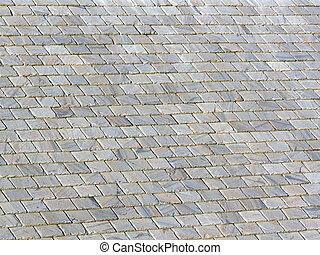 スレート, 古い, 屋根, 背景