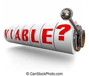 スロット, 単語, 可能, 機械, 潜在性, 手紙, 機会, viable