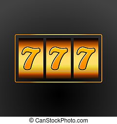 スロット, jackpot, 777, machine., 幸運, お金, カジノ, 7, 幸運, vegas, chance., game., ギャンブル, 勝利