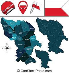 スロバキア, 地図, bratislava