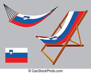 スロベニア, 椅子, セット, ハンモック, デッキ