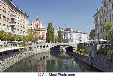 スロベニア, 3倍になりなさい, 橋, ljubljana