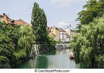 スロベニア, ljubljanica, 川, ljubljana