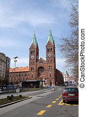 スロベニア, maribor, 慈悲, franciscan, 教会, mary, 母, st.
