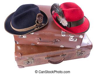 スーツケース, 型, ババリア人, 2, 伝統的である, 帽子
