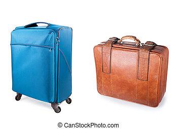スーツケース, 現代, 古い, 2