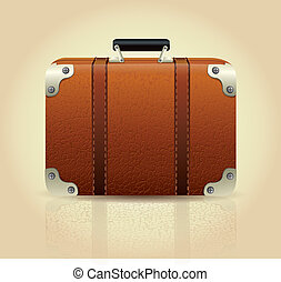 スーツケース, 革