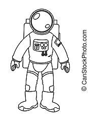 スーツ, 宇宙飛行士, アイコン