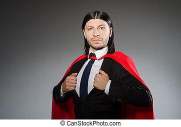 スーパーマン, 概念, ∥で∥, 人, 中に, 赤, カバー