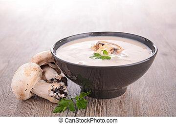 スープ, きのこ