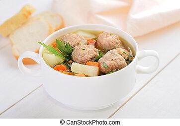 スープ, ミートボール