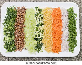スープ, 野菜, minestrone