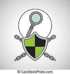 セキュリティシステム, データ, 探索