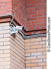 セキュリティー, カメラ, ビデオ, システム, 監視