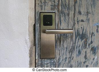 セキュリティー, ドア, カード, キー
