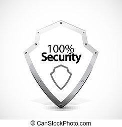 セキュリティー, 保護される, アイコン
