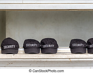 セキュリティー, 帽子, 横列