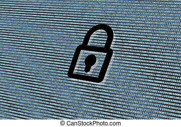 セキュリティー, 概念, ネットワーク, cyber