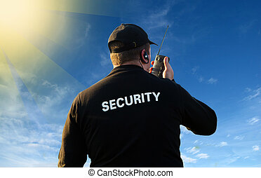 セキュリティー, 背中, 監視