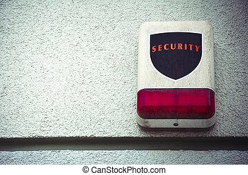 セキュリティー, 警報, 外気に当って変化した, 部屋