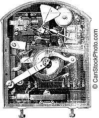 セクション, 手旗信号, engraving., 箱, 型