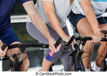 セクション, 自転車, 中央の, 練習, 人々