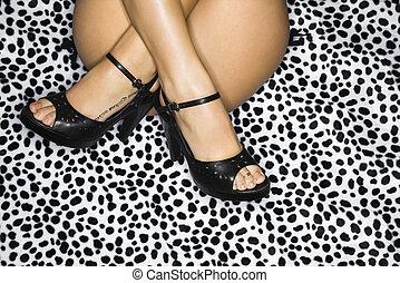 セクシー, 女性, legs.