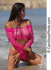 セクシー, 浜, 女の子