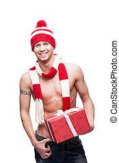 セクシー, macho, 赤, 贈り物, 保有物