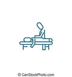 セッション, 線である, 印, concept., シンボル, ベクトル, 線, アイコン, マッサージ, illustration.