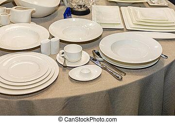 セットアップ, テーブル, 食事をする