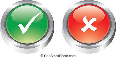セット, すてきである, グロッシー, icons/buttons