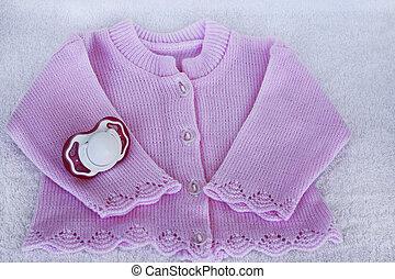 セット, ∥ために∥, 新生, 女の子, ∥で∥, バラ, 編まれる, ブラウス, そして, 模造