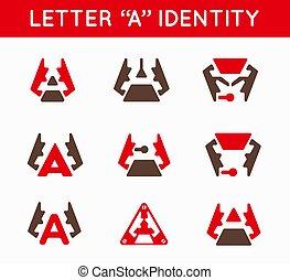 セット, のように, ビジネス, 決め付けること, 蟻, 昆虫, ベクトル, デザイン, 顔つき, かぶと虫, ロゴ, アイコン, ∥あるいは∥, hi-tech
