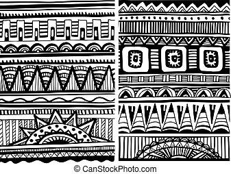 セット, の, アフリカ, パターン