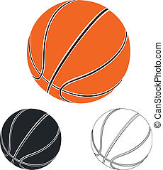 セット, の, バスケットボール, ボール