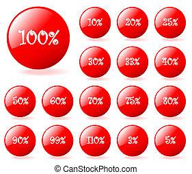 セット, の, ベクトル, アクア色, スタイル, 割引, ボタン, ∥で∥, shadow., 容易である, へ,...