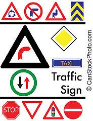 セット, の, 交通, アイコン, 上に, a, 白い背景