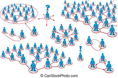 セット, の, 人々, ネットワーク