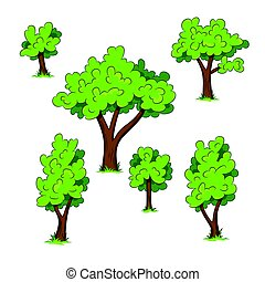 セット, の, 別, 木, ∥で∥, 草