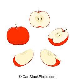 セット, りんご
